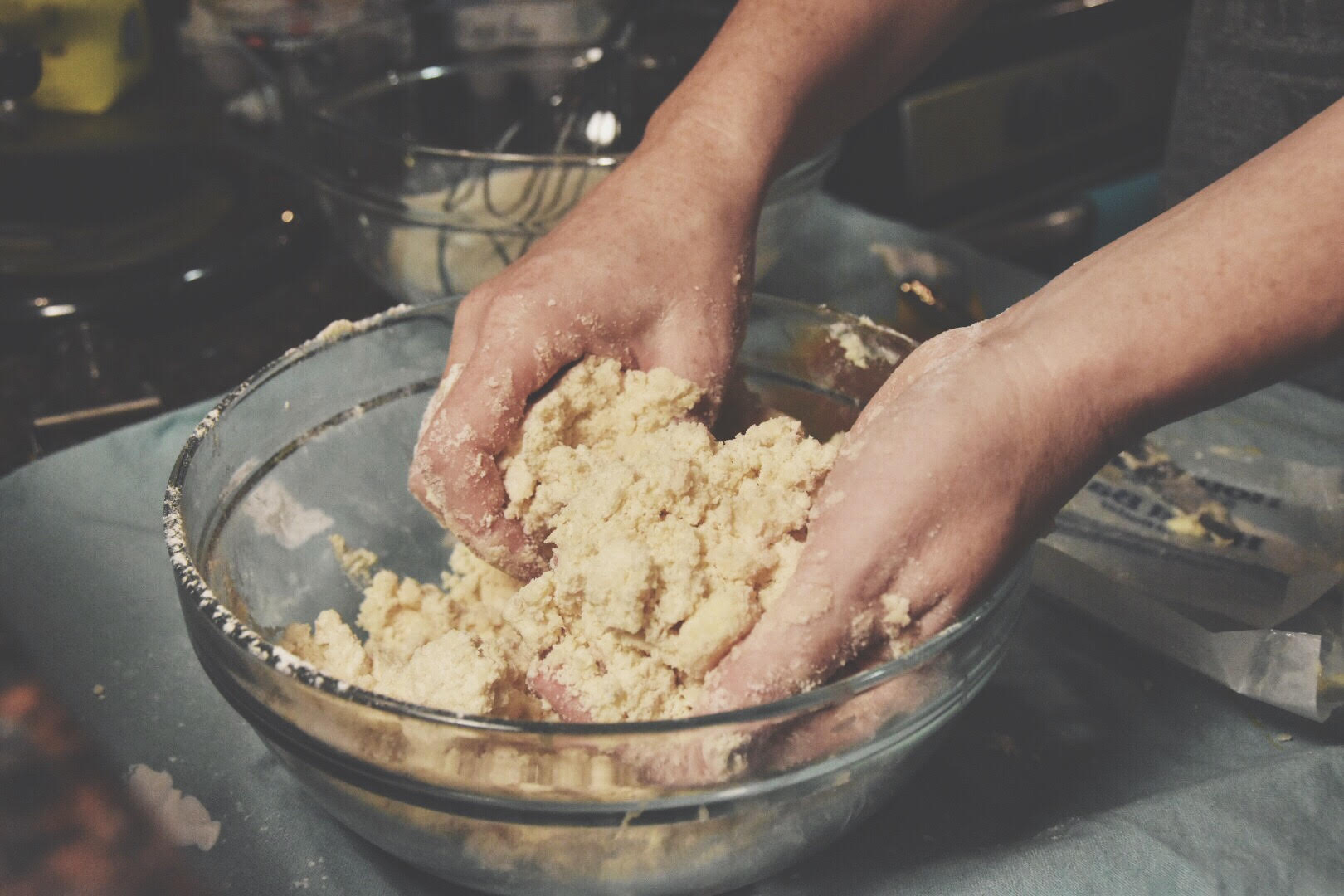 Mixing the Scone Dough