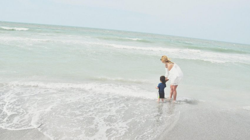 chondra and atlas in the ocean in florida
