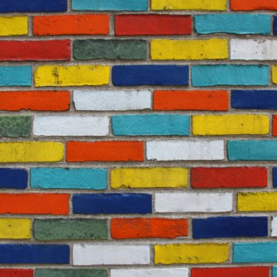 multicolored bricks