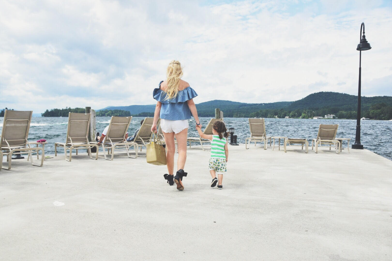 Mom and Child at the sagamore resort on lake george