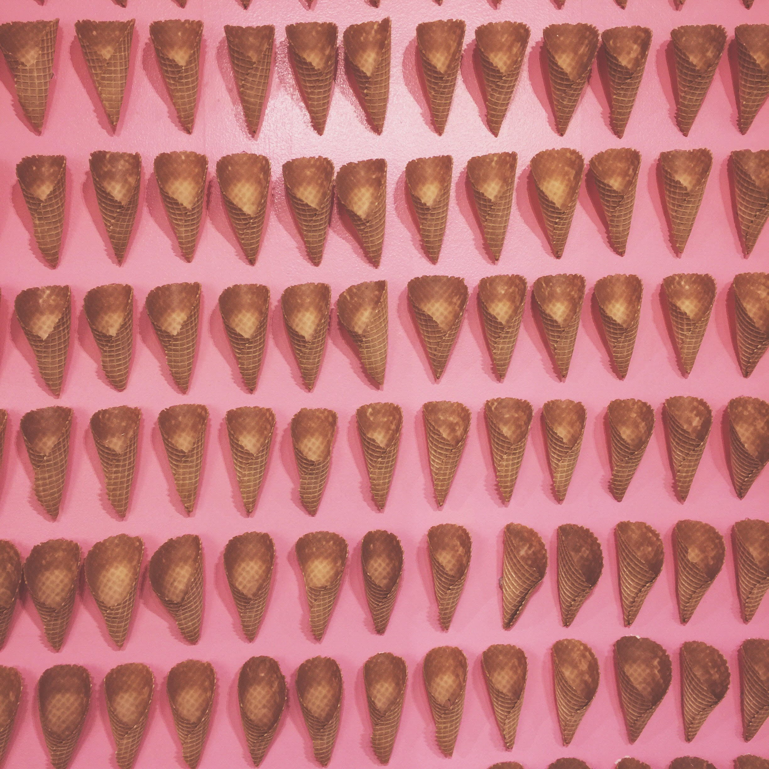 ice cream cones at the museum of ice cream