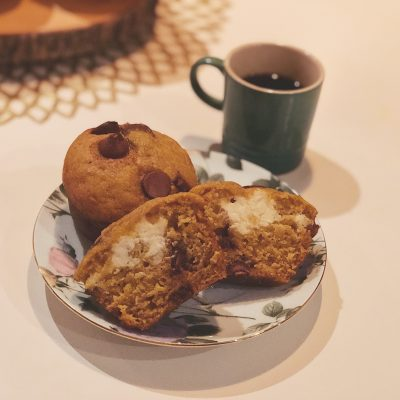 RECIPE: Chocolate Chip Pumpkin Spice Surprise Muffins