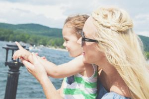 Mom and Child on lake